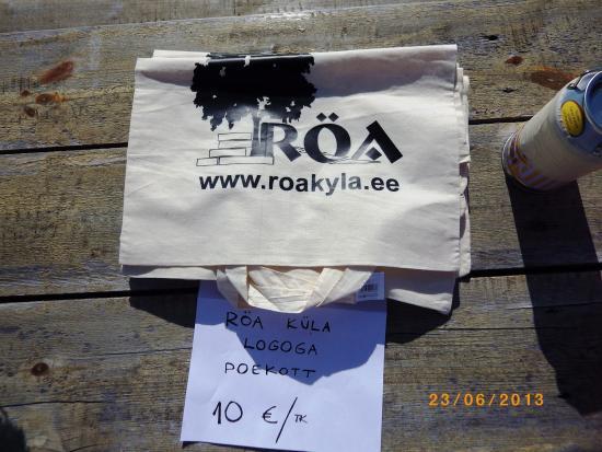 Röa küla logoga poekott